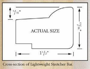Jack Richeson & Co. Inc. Lightweight Stretcher Bar, 25""