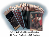 JOHN HOWARD SANDEN Professional Collection BRUSH SET - 47 Pieces