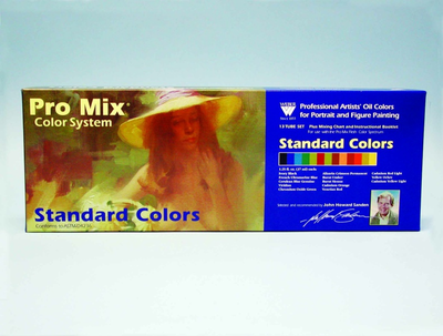 JOHN SANDEN PRO MIX STANDARD OIL COLOR SET - 13  COLOR - Click to enlarge