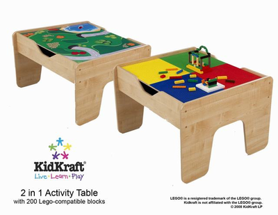 KIDKRAFT 2 in 1 Activity Table Lego compatible - Click to enlarge