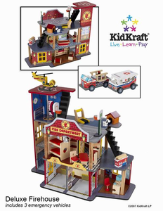 KIDKRAFT Deluxe Fire Rescue Set - Click to enlarge