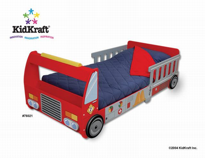 KIDKRAFT FireTruck Toddler Cot - Click to enlarge