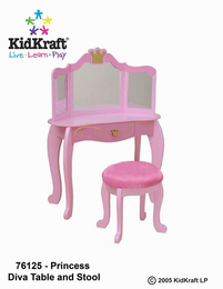 KIDKRAFT Princess Table & Stool - Click to enlarge