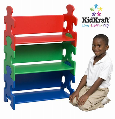 KIDKRAFT Puzzle Book Shelf - Primary - Click to enlarge