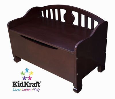KIDKRAFT Queen Anne Toy Chest - Cherry