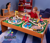 KIDKRAFT Ride Around Town train set w/table