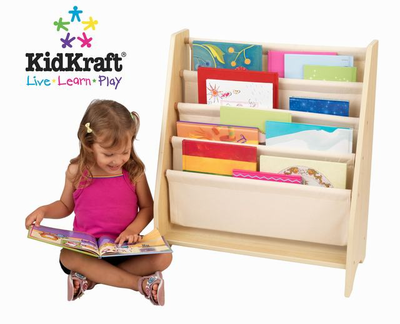 KIDKRAFT Sling Bookshelf Natural - Click to enlarge