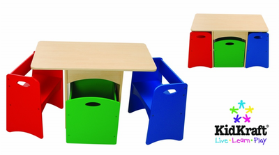KIDKRAFT Table with Primary Benches - Click to enlarge