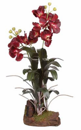 Large Vanda w/Root Base Silk Orchid Plant - Click to enlarge