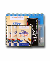 LARRY GLUCK Art of Drawing for Kids Complete Package (DVDS & all Materials)