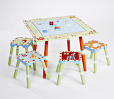 Levels of Discovery ALPHABET SOUP TABLE & 4 STOOL SET