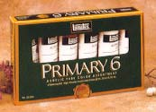 LIQUITEX PRIMARY 6 Acrylic Paint Set