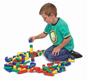 Melissa & Doug 100 Wood Blocks Set - Click to enlarge