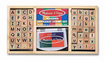 Melissa & Doug Alphabet Stamp Set - Click to enlarge