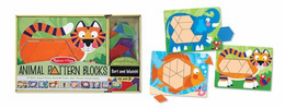 Melissa & Doug Animal Pattern Blocks Set