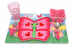 Melissa & Doug Bella Butterfly Mealtime Set - Click to enlarge