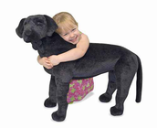 Melissa & Doug Black Lab - Plush