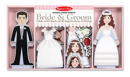 Melissa & Doug Bride & Groom Magnetic Dress-Up - Click to enlarge
