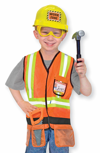 Melissa & Doug Construction Worker Role Play Costume Set - Click to enlarge