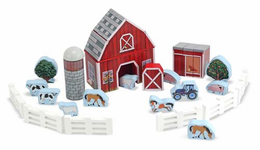 Melissa & Doug Farm Blocks Play Set - Click to enlarge