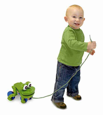 Melissa & Doug Frolicking Frog Pull Toy - Click to enlarge