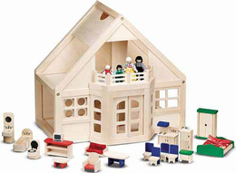 Melissa & Doug Furnished Dollhouse - Click to enlarge