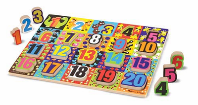 Melissa & Doug Jumbo Numbers Chunky Puzzle - Click to enlarge