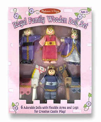 Melissa & Doug Royal Family Wooden Doll Set - Click to enlarge