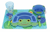 Melissa & Doug Scootin' Turtle Mealtime Set