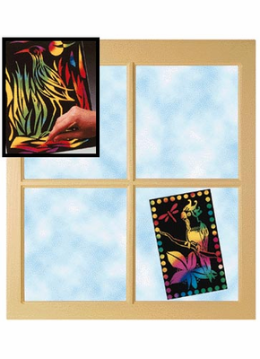 Melissa & Doug Scratch Light - Stained Glass (30 sheets)