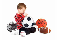 Melissa & Doug Sports Balls in a Mesh Bag - Plush