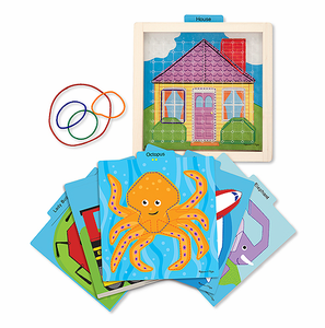 Melissa & Doug Stretch & Match Geo Board - Click to enlarge