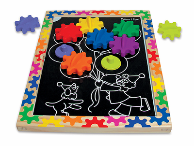 Melissa & Doug  Switch and Spin Magnetic Gear Board - Click to enlarge
