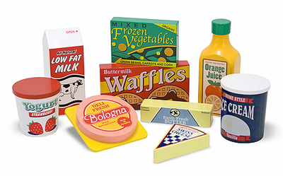 Melissa & Doug Wooden Fridge Food Set - Click to enlarge