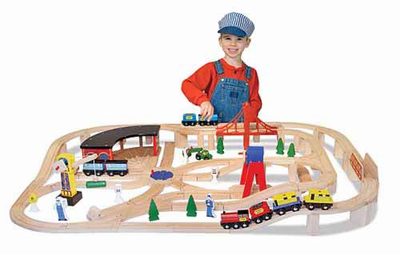 Melissa & Doug Wooden Railway Set - Click to enlarge