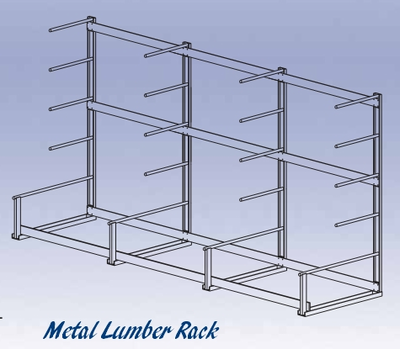Metal Lumber Storage Rack
