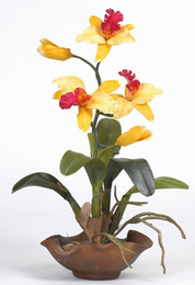 Mini Cattelya Silk Orchid Arrangement - Click to enlarge