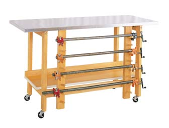Mobile Glue & Stain Bench - wood