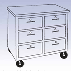 Mobile Storage Cabinet - 6 drawers