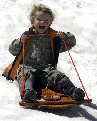 "MOUNTAIN BOY SLEDWORKS Ultimate Flyer Sled – 52"" long - Click to enlarge"