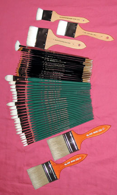 NELSON SHANKS Elite Primo Pennello Set - 45 Pc Complete Brush Set (long handles) - Click to enlarge
