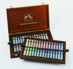 NEOART WAX Pastels, water-soluble  - Wooden Box Set of 60 Colors