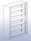 "Open Shelf Storage Unit - 84""H"
