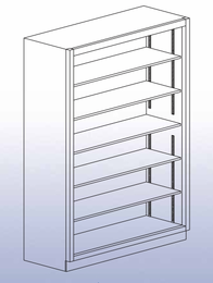 "Open Shelf Storage Unit - 84""H-41"