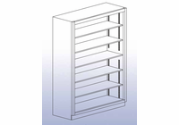 "Open Shelf Storage Unit - 84""H-54"