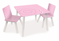 P'kolino  Classically Cool Tables and Chairs - Blossom