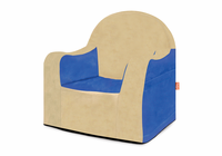 P'kolino Little Reader Chair - Blue with Tan