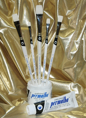 Permalba� Oil Brush White Bristle PERFECT BRIGHT� Set of (5)