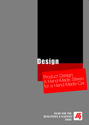 Product Design: A Hand-Made Stereo for a Hand-Made Car Video  (DVD)