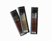 Professional Kolinsky Watercolor Set: sizes 1, 2, 3, 4 and 5 rounds